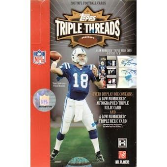 2007 Topps Triple Threads Football Hobby Box