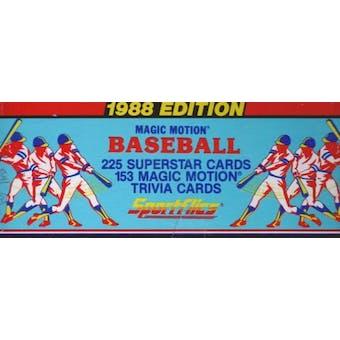 1988 Sportflics Baseball Factory Set