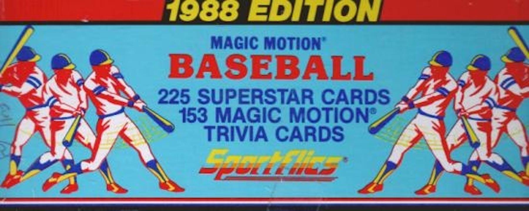 1988 Sportflics Baseball Factory Set Da Card World