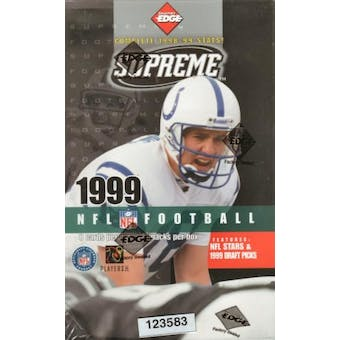1999 Collector's Edge Supreme Football Hobby Box