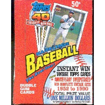 1991 Topps Baseball Wax Box