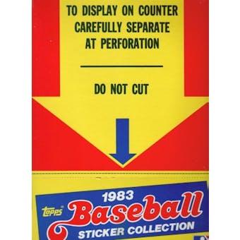 1983 Topps Sticker Collection Baseball Box