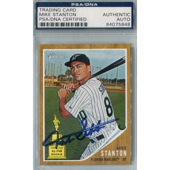 2011 Topps Heritage Baseball #288 Mike Stanton Auto PSA/DNA *5848 (Reed Buy)