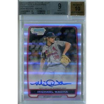 2012 Bowman Chrome Draft Baseball #MW Michael Wacha Refractor Auto BGS 9 (Mint) Auto 10 *4723 (Reed Buy)