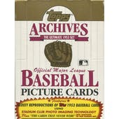 1991 Topps Archives (1953) Baseball Wax Box (Reed Buy)