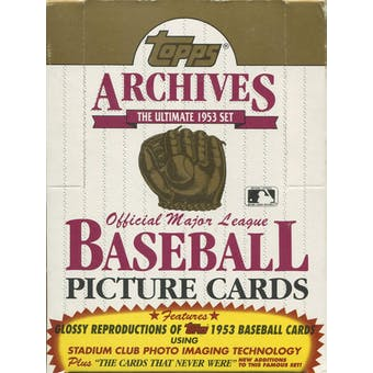 1991 Topps Archives (1953) Baseball Wax Box (Reed Buy)