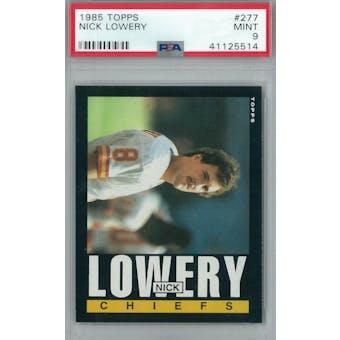 1985 Topps Football #277 Nick Lowery PSA 9 (Mint) *5514 (Reed Buy)