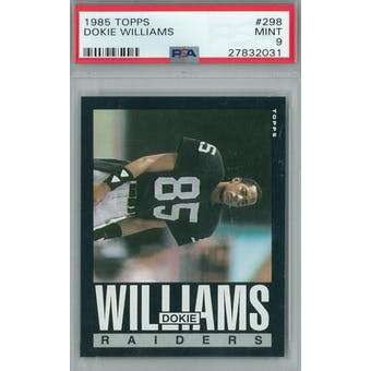 1985 Topps Football #298 Dokie Williams PSA 9 (Mint) *2031 (Reed Buy)