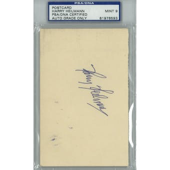 Harry Heilmann GPC Postcard PSA/DNA Auto Mint 9 *6593 (Reed Buy)