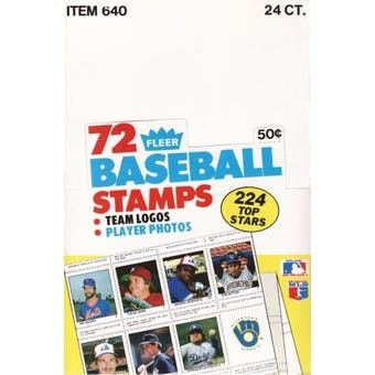 1983 Fleer Stamps Baseball Wax Box