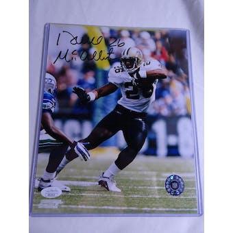 Deuce McAllister New Orleans Saints Autographed Football 8x10 Photo JSA COA #HH11615 (Reed Buy)