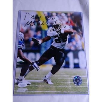 Deuce McAllister New Orleans Saints Autographed Football 8x10 Photo JSA COA #HH11614 (Reed Buy)