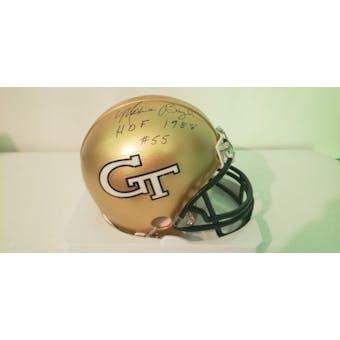 Maxie Baughan Georgia Tech Yellow Jackets Auto Football Mini Helmet (HOF 1988) JSA #HH11068 (Reed Buy)