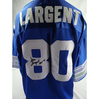 Steve Largent Seattle Seahawks Auto Mitchell & Ness Jersey (HOF 95) JSA #HH11384 (Reed Buy)