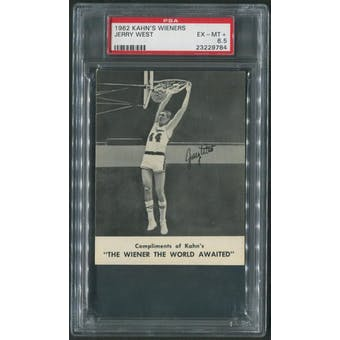 1962/63 Kahn's Wieners Basketball #10 Jerry West PSA 6.5 (EX-MT+)