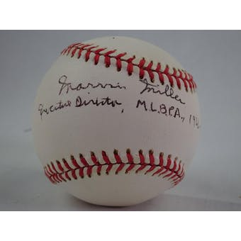 Marvin Miller Autographed NL White Baseball (Executive Director MLBPA 1966-83) JSA #HH11489 (Reed Buy)