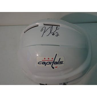 Ken Sabourin Washington Capitals Autographed Hockey Mini Helmet JSA #HH11640 (Reed Buy)