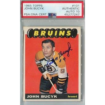 1965/66 Topps Hockey #101 Johhny Bucyk PSA AUTH Auto 10 *7247 (Reed Buy)