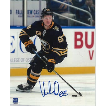 Victor Olofsson Autographed Buffalo Sabres Blue Jersey 8x10 Hockey Photo