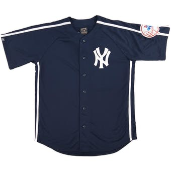 New York Yankees Majestic Cooperstown Crosstown Rivalry Baseball Jersey (Adult Large)