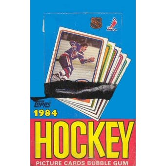 1984/85 Topps Hockey Wax Box