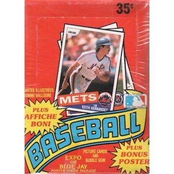1985 O-Pee-Chee Baseball Wax Box