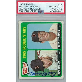 1965 Topps Baseball #74 Rico Petrocelli RC PSA AUTH Auto 10 *9480 (Reed Buy)