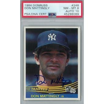 1984 Donruss Baseball #248 Don Mattingly RC PSA 8 (NM-MT) Auto 10 *8089 (Reed Buy)