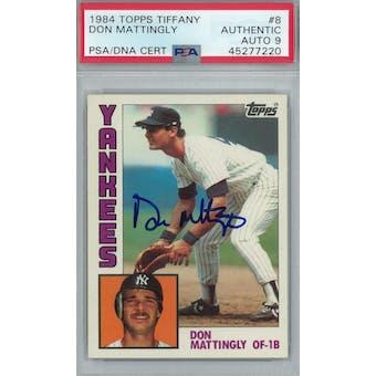 1984 Topps Tiffany Baseball #8 Don Mattingly RC PSA AUTH Auto 9 *7220 (Reed Buy)
