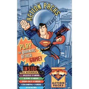 Superman Action Packs Hobby Box (1996 Fleer Skybox)