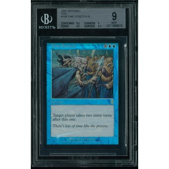 Magic the Gathering Odyssey FOIL Time Stretch BGS 9 (9.5, 9, 9.5, 8.5)