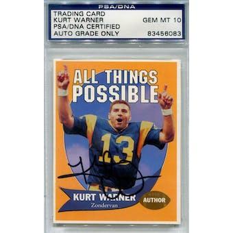 Kurt Warner Trading Card Autograph Gem Mint 10 *6083 (Reed Buy)