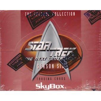 Star Trek: The Next Generation Season Six 18-Pack Box (1996 Skybox)