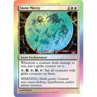Magic the Gathering Promo Single Snow Mercy - 2010 Holiday Foil - SLIGHT PLAY (SP)