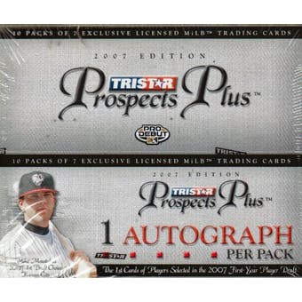 2007 TriStar Prospects Plus Baseball Hobby Box