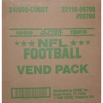 1989 Score Football Vending 24-Box Case