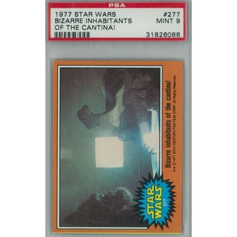 1977 Topps Star Wars #277 Bizarre Inhabitants of the Cantina PSA 9 (Mint) *6088 (Reed Buy)