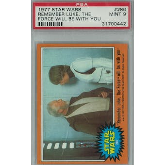 1977 Topps Star Wars #280 Luke, the Force will be with you PSA 9 (Mint) *0442 (Reed Buy)