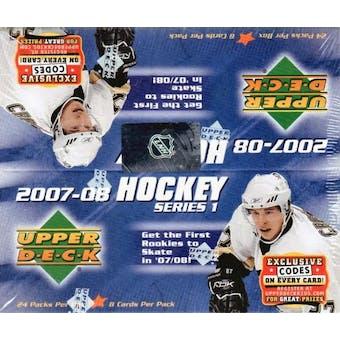 2007/08 Upper Deck Series 1 Hockey 24 Pack Box