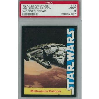 1977 Star Wars Wonder Bread #13 Millenium Falcon PSA 9 (Mint) *7707 (Reed Buy)