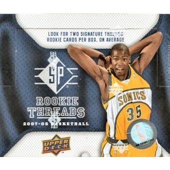 2007/08 Upper Deck SP Rookie Threads Basketball Hobby Box