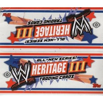 2007 Topps WWE Heritage III Wrestling Hobby Box