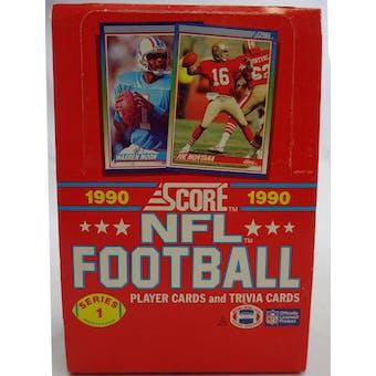 1990 Score Series 1 Football Wax Box (Reed Buy)