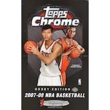2007/08 Topps Chrome Basketball Hobby Box