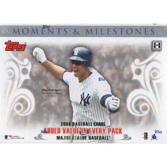 2008 Topps Moments & Milestones Baseball Hobby Box