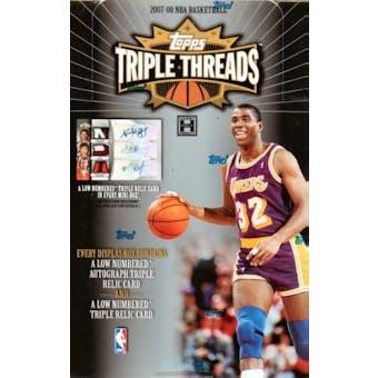2007/08 Topps Triple Threads Basketball Hobby Box