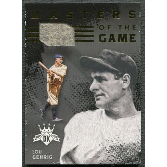 2016 Diamond Kings #MGLG Lou Gehrig Masters of The Game Materials Jersey #18/25