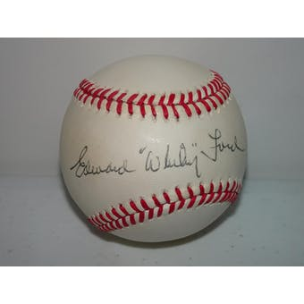 Edward Whitey Ford Autographed AL Brown Baseball JSA EE42436 (Reed Buy)