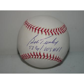Bob Turley Autographed MLB Baseball (58 CY/WS MVP) TriStar 6103532 MLB BB282592 (Reed Buy)