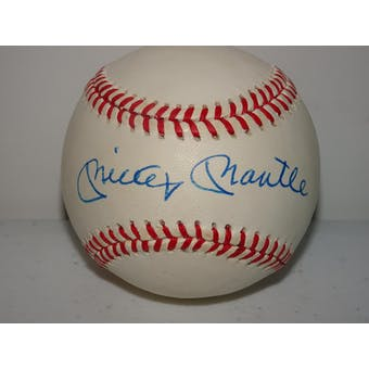 Mickey Mantle Autographed AL Brown Baseball PSA/DNA D57457 (Reed Buy)
